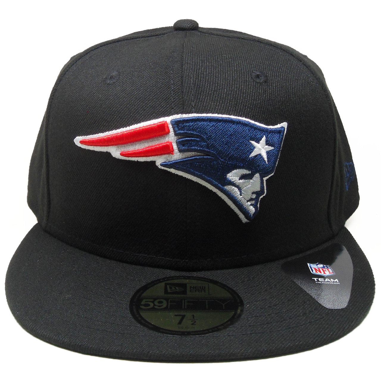 New England Patriots New Era 59Fifty Fitted Hat - Black a096d8c584d