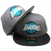a5bf1c2b41fb3 Los Angeles Lakers New Era Custom 59Fifty Fitted - Gray