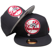 New York Yankees New Era Custom Top Hat 59Fifty Fitted - Navy, Red, White