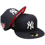 New York Yankees New Era Custom 100th Anniversary Fitted - Navy, Red, White