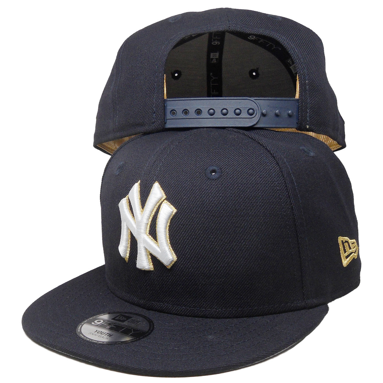 df57dc58b66 ... closeout new york yankees new era kids triumph turn 9fifty snapback  navy white gold 584a8 0be04