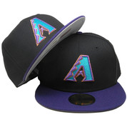 Arizona Diamondbacks New Era Custom 59Fifty Fitted - Black, Purple, Teal, Copper