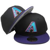 Arizona Diamondbacks New Era Custom 59Fifty Fitted - Black, Purple, Teal, Copper