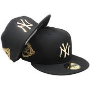 New York Yankees New Era Custom Metal Badge 59Fifty Fitted - Black, Gold