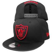 Oakland Raiders New Era Custom 9Fifty Snapback - Black, Red, Black Satin