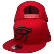 Eye Of Horus New Era Custom 9Fifty Snapback Hat - Red, Black