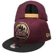 New York Mets New Era 9Fity Custom Snapback Hat - Maroon, Black, Taupe