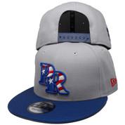Puerto Rico New Era Custom 9Fifty Snapback Hat - Gray, Royal, White, Red