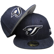 Toronto Blue Jays New Era Custom 59Fifty Fitted - Blue Denim, White, Black