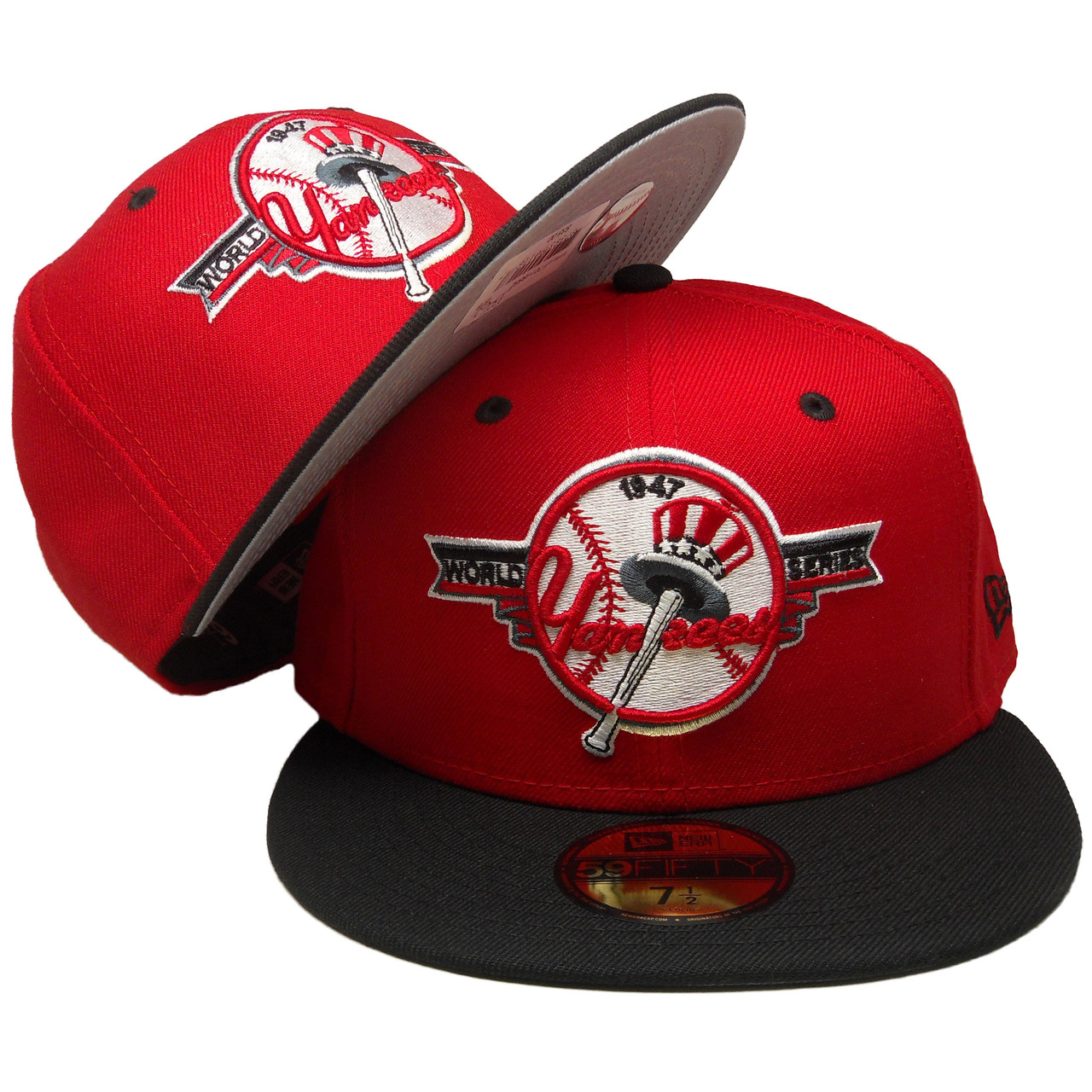 New York Yankees New Era Custom 47 WS 59Fifty Fitted - Red 47db86111a0e