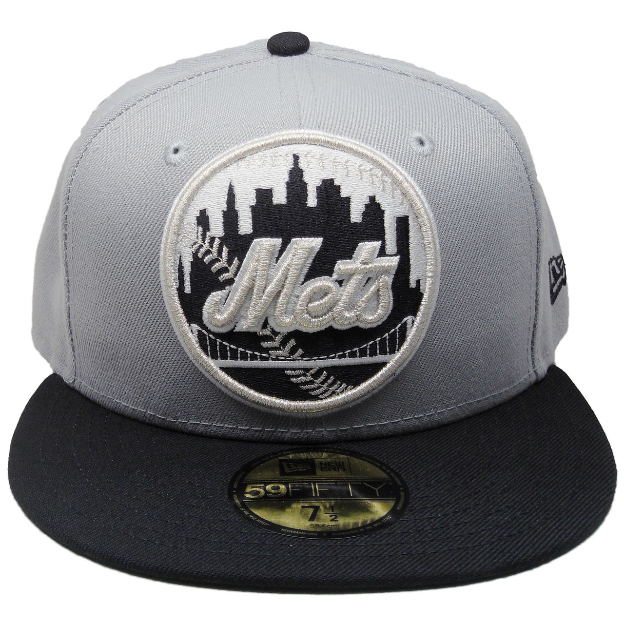 New York Mets New Era Custom 59Fifty Fitted - Gray c0e0c06e805
