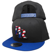 Puerto Rico New Era Custom 9Fifty Snapback Hat - Black, Royal, Red, White