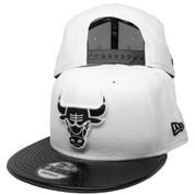 Chicago Bulls New Era AJ 11 Custom 9Fifty Snapback - White, Black Patent Leather