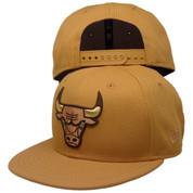Chicago Bulls New Era Custom KIDS 9Fifty Snapback - Wheat, Nubuck, Brown