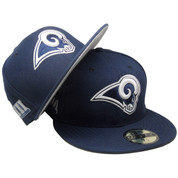 Los Angeles Rams New Era Super Bowl LIII 59Fifty Fitted - Navy, White