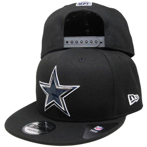 Dallas Cowboys New Era Metal And Thread 9Fifty Snapback - Black, Navy, White