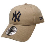 New York Yankees New Era 9Twenty Adjustable Hat - Khaki, White