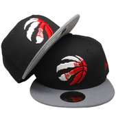 Toronto Raptors New Era Custom 59Fifty Fitted - Black, Gray, Red, White