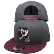 Looney Tunes Taz New Era Custom 9Fifty Snapback - Charcoal, Maroon, White