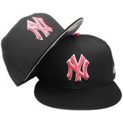 New York Yankees New Era Custom 59Fifty Fitted - Black, Infrared, White