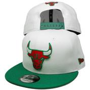 Chicago Bulls New Era Custom 9Fifty Snapback - White, Kelly Green, Red