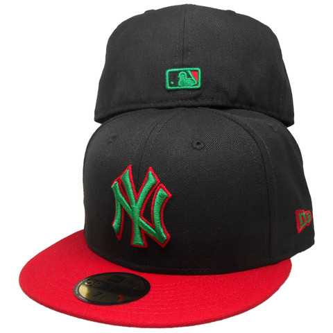 New York New Era Custom 59Fifty Snapback - Black, Kelly Green, Red