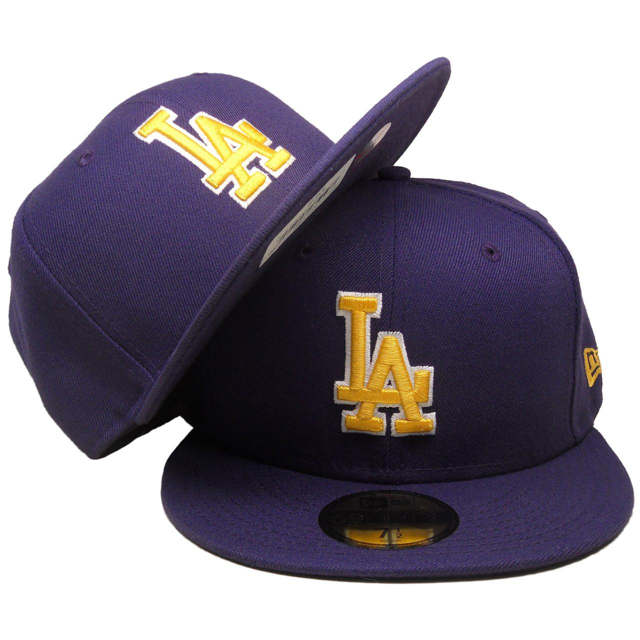 9407e9fc8b04b Los Angeles Dodgers New Era Custom 59Fifty Fitted - Purple
