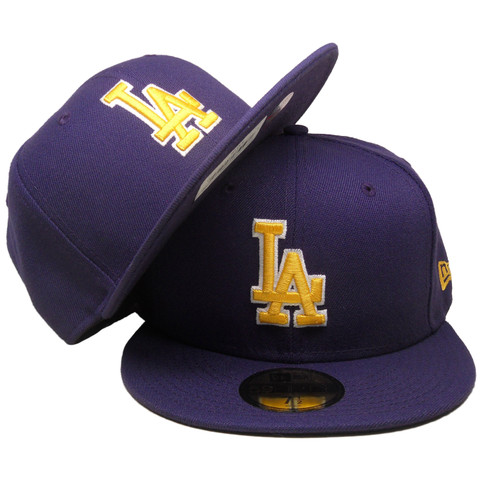 Los Angeles Dodgers New Era Custom 59Fifty Fitted - Purple, Yellow, White