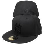 New York Yankees New Era Custom Metal Badge 59Fifty Fitted - All Black