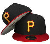 Pittsburgh Pirates New Era 2008 Onfield Fitted Hat - Black, Red, Yellow