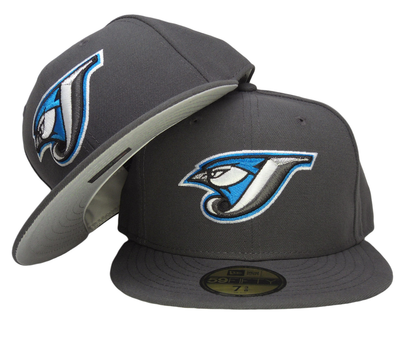 Toronto Blue Jays New Era Gray Bottom Fitted Hat - Graphite Gray ... ba23d84d5d9