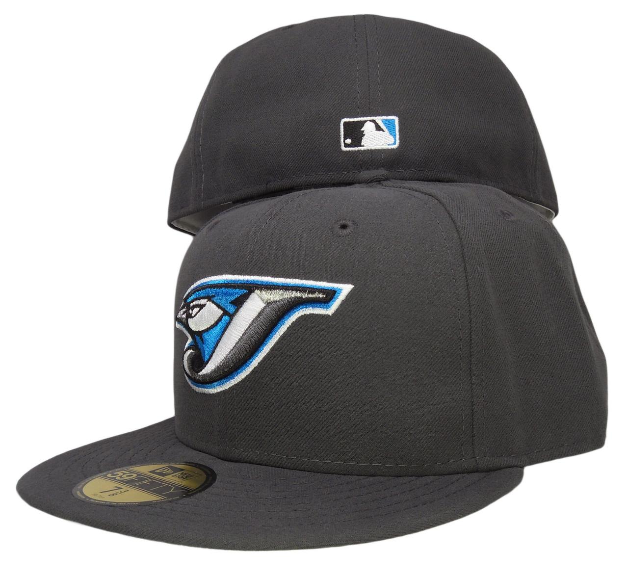 buy popular 68e4b 88323 ... usa toronto blue jays new era gray bottom fitted hat graphite gray  marine blue. larger ...