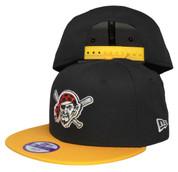 Pittsburgh Pirate New Era Kids 2Tone Snapback Hat - Black, Yellow, White, Red