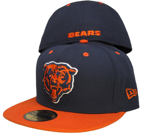 Chicago Bears New Era 59Fifty 2Tone Fitted Hat - Navy, Orange, White