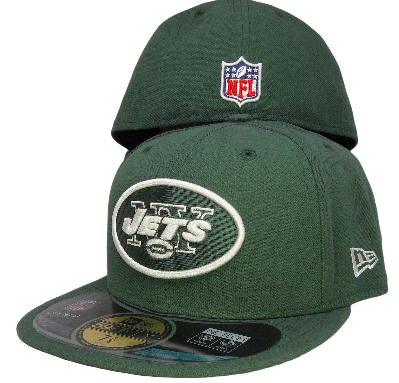 74da3b00be7 New York Jets New Era 59Fifty Onfield Fitted Hat - Hunter Green ...