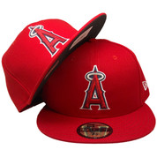 Anaheim Angels New Era Onfield Official Fitted Hat - Red, White, Navy, Silver