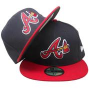 Atlanta Braves New Era 59Fifty Alternate Fitted Hat - Navy, Red, White