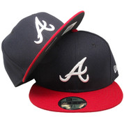 Atlanta Braves New Era 59Fifty Onfield Official Fitted Hat - Navy, Red, White