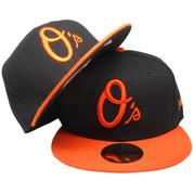 Baltimore Orioles New Era Alternate Fitted Hat - Black, Orange