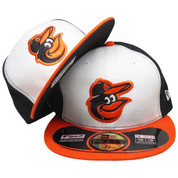 Baltimore Orioles New Era Home Onfield Fitted Hat - White, Black, Orange