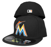 Miami Marlins New Era Home Onfield Fitted Hat - Black, Orange, Blue, Yellow