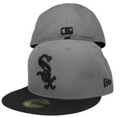 Chicago White Sox New Era 59Fifty Basic Fitted Hat - Storm Gray, Black