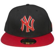 New York Yankees New Era 59Fifty Custom Fitted Hat - Black, Red, White
