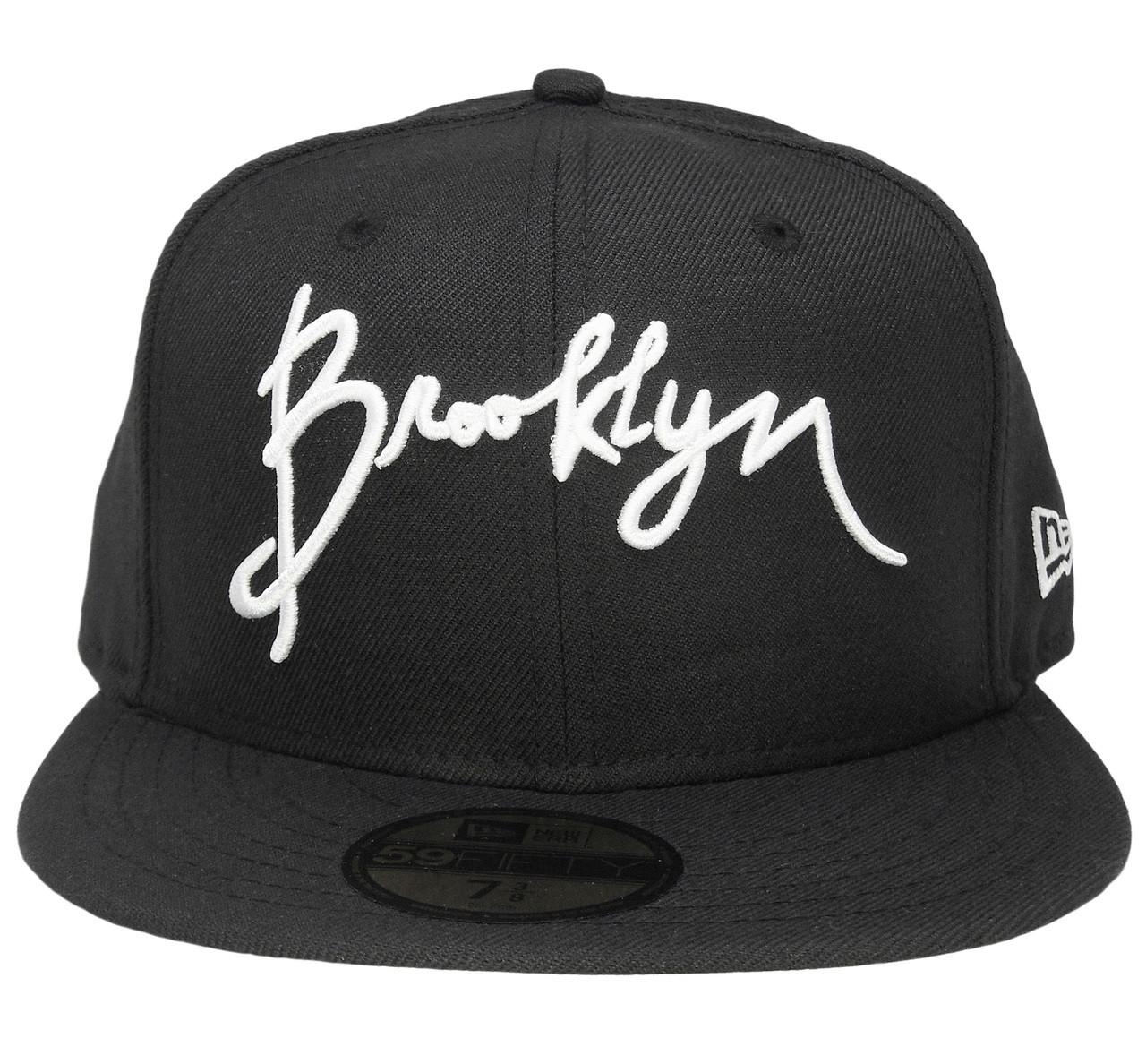 e28bb2113fd30 Script Brooklyn New Era 59Fifty Basic Fitted Hat - Black