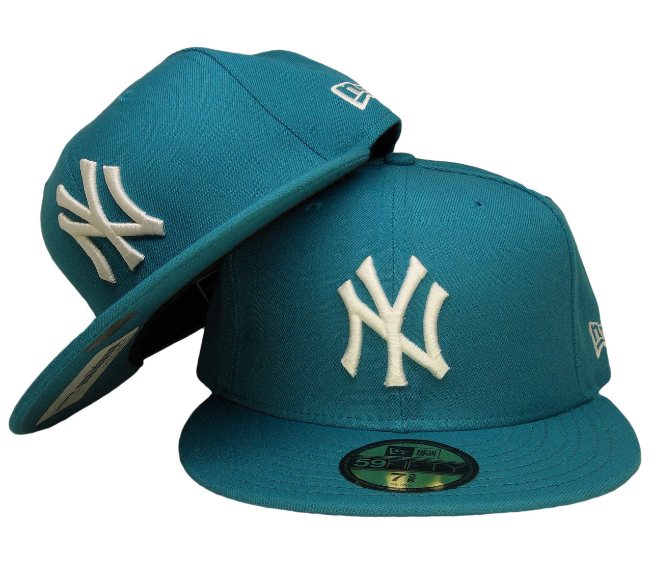 2e706509f11 16d1a 94e92  ebay new york yankees new era 59fifty basic fitted hat  turquoise white 69e0d 8c31a
