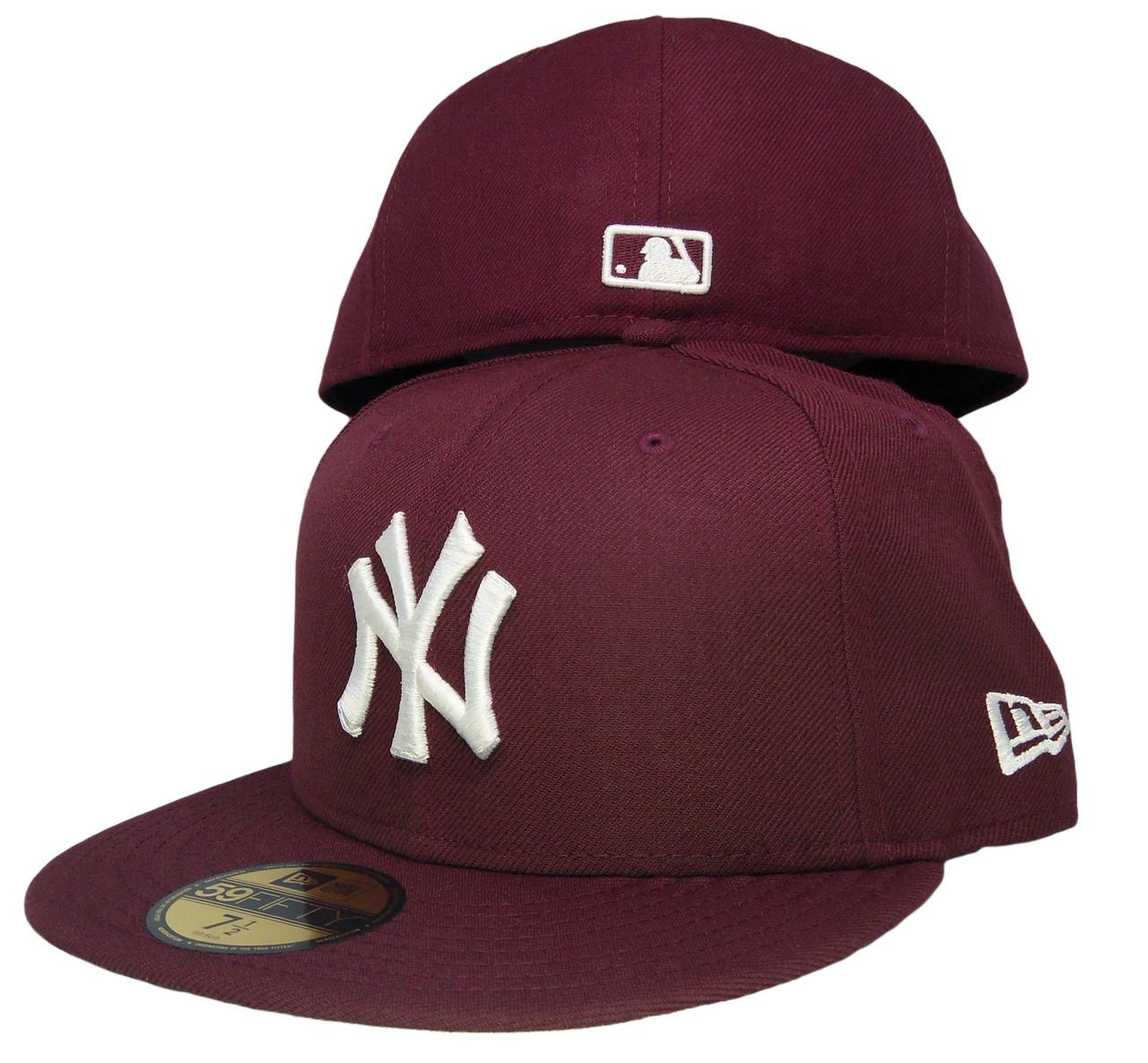 1c72adf4c9e ... wholesale new york yankees new era 59fifty basic fitted hat maroon white  2647c ababc