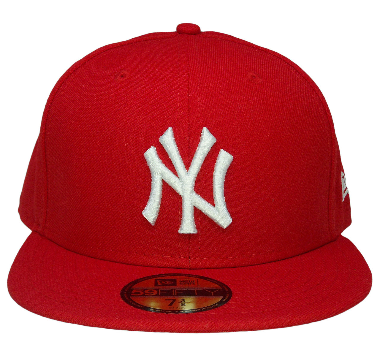 c414aeaf368 New York Yankees New Era 59Fifty Basic Fitted Hat - Red