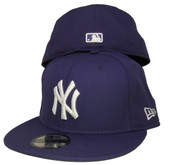 New York Yankees New Era 59Fifty Basic Fitted Hat - Purple, White