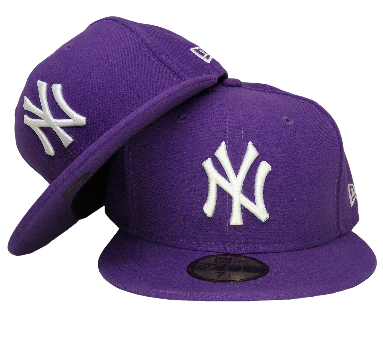 New York Yankees New Era 59Fifty Basic Fitted Hat - Deep Purple ... dc4e169c834