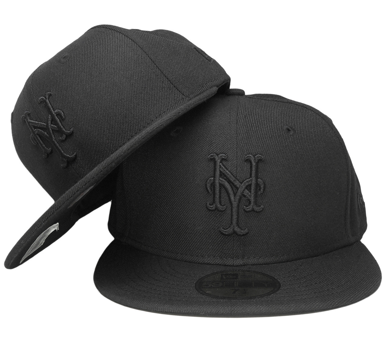 f99957419e9 New York Mets New Era All Black 59Fifty Fitted Hat - Black ...